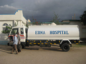 Donated water tanker