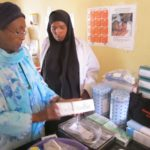 Edna Adan with midwife kits