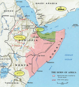 Map of Horn of Africa - Hargeisa