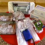 Showcasing the contents of the midwifery kits – all the tools of the trade!