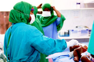 Dr Deeqa in action at a surgical camp hosted by the Edna Adan Hospital